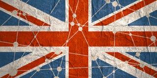 Britain flag concept Stock Photo