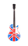 Britain flag guitar isolated on white background. See my other works in portfolio Royalty Free Stock Images
