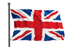Britain flag. Isolated on white background Stock Images