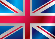 Britain flag ripple Stock Photography