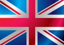 Britain flag ripple stock illustration