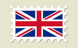 Britain Flag Stamp Stock Photo