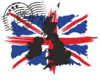 britain flagga stort s royaltyfria bilder