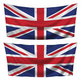 britain flags stort texturerat horisontal Royaltyfria Bilder