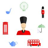 Britain flat design Royalty Free Stock Images