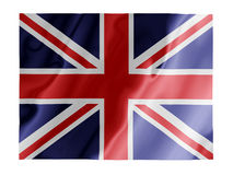 Britain fluttering. Fluttering image of the British national flag Royalty Free Stock Photo