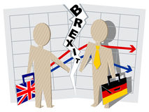 Britain and Germany Brexit. Severance of relations in business Stock Photos
