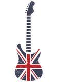 britain gitarr Arkivbild