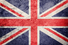 britain grunge chorągwiany wielki Union Jack flaga z grunge teksturą Obrazy Royalty Free