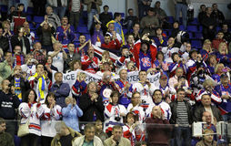 Britain ice-hockey fans Stock Images