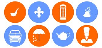 The britain icons Royalty Free Stock Images