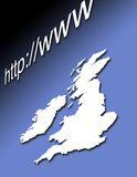 britain internet Arkivfoton
