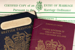 Britain married to Europe. Royalty Free Stock Photography