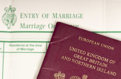 Britain married to Europe. Stock Photography