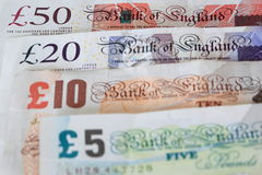 Britain pounds. The Great Britain pound notes Stock Images
