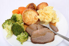 Britain's big beef dinner Stock Photo
