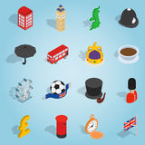Britain set icons, isometric 3d style Stock Photos