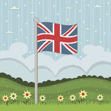 britain wielki chorągwiany Zdjęcie Royalty Free