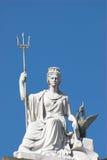 Britannia. Statue Of Britannia with a liver bird in Liverpool Stock Image