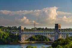 Britannia Bridge, connecting Snowdonia and Anglesey Royalty Free Stock Photos