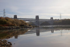 Britannia Bridge Reflection Royalty Free Stock Images