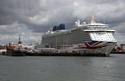 Britannia cruise ship in Port of Southampton UK Royalty Free Stock Photography