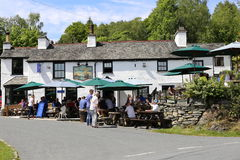 Britannia Inn, Elterwater. Royalty Free Stock Photography
