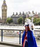 Britannia und Big Ben Stockbild