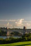Britanniabrug, het verbinden Snowdonia en Anglesey Royalty-vrije Stock Foto's