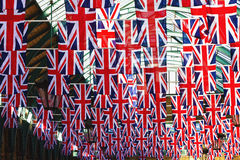 Britannici diminuiscono sul vento Fotografie Stock Libere da Diritti