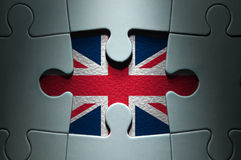 Britannici inbandierano il pezzo mancante del puzzle Immagine Stock