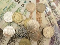 Britannici Sterling Pounds Fotografie Stock Libere da Diritti