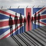 Britannien invandring stock illustrationer