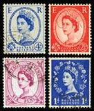 Britannien portostämplar Arkivbilder