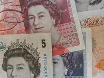 Briten Sterling Pounds Stockfoto