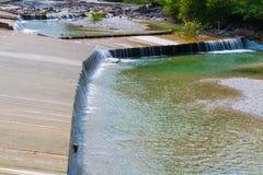 Britge de madeira, rio, céu Fotografia de Stock Royalty Free