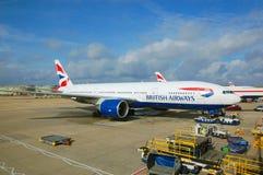 Brithish dróg oddechowych samolot Obrazy Royalty Free