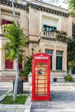 Brithish Telephone Cabin, Malta Royalty Free Stock Photography