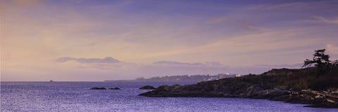 Britisch-Columbia-Küstenlinie Stockbild