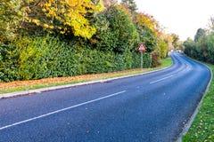 BRITISCHE Autobahn im Herbst Lizenzfreies Stockfoto