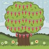 Britische Baumdekoration Stockbild