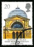 BRITISCHE Briefmarke Alexandra Palaces Stockbild