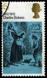 BRITISCHE Briefmarke Charles Dickenss Lizenzfreies Stockfoto