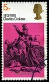 BRITISCHE Briefmarke Charles Dickenss Lizenzfreies Stockbild