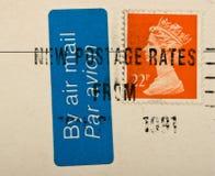BRITISCHE Briefmarke der Weinlese Stockbild