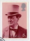 Britische Briefmarke, die das Jahrhundert von Churchill-` s gedenkt Lizenzfreie Stockbilder