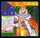 BRITISCHE Briefmarke König-James Bible Lizenzfreie Stockfotografie
