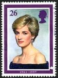 BRITISCHE Briefmarke Prinzessin-Diana Lizenzfreie Stockfotografie
