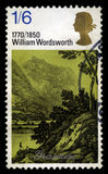 BRITISCHE Briefmarke William Wordsworths Stockfoto