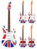 Britische elektrische Gitarren Lizenzfreie Stockbilder
